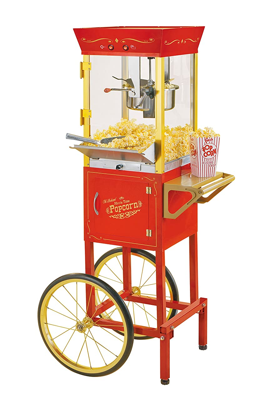 Nostalgia CCP510 53-Inch Tall Vintage Collection 6-Ounce Kettle Popcorn Cart 0