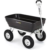 Gorilla Carts 1000 lb. Heavy-Duty Poly Dump Cart (Black)