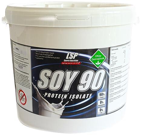 LSP Soy 90 (Sojaprotein 100% Vegan) Neutral, 1er Pack (1 x 4 kg)