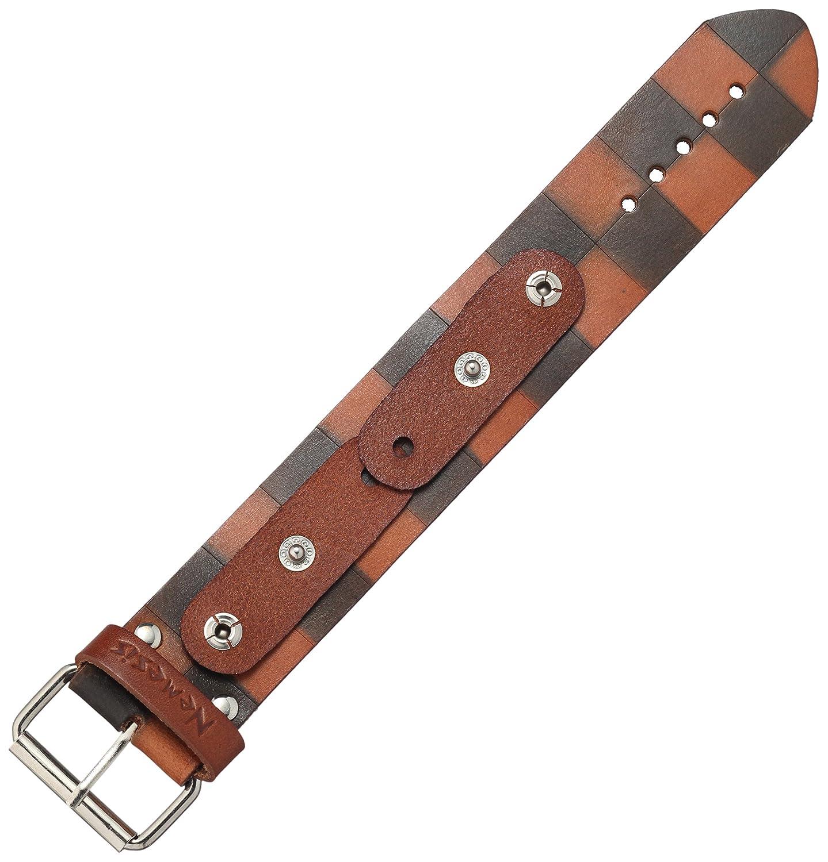 Фото - Nemesis CHDB 38mm Checkered Dark Patent Leather Brown Watch Bracelet young bond red nemesis