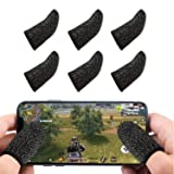 Newseego Mobile Game Controllers Finger Sleeve, Breathable Anti-Sweat Soft Touch Screen Finger Sleeve Sensitive Shoot and Aim for Rules of Survival/Knives Out for Android & iOS- Black [6 Pack] (Color: 6*Black)