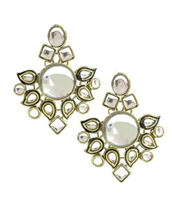 Meera Kundan Earrings at amazon