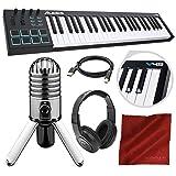 Alesis V49 49-Key USB MIDI Keyboard & Drum Pad Controller with Samson Meteor Mic USB Microphone Deluxe Bundle
