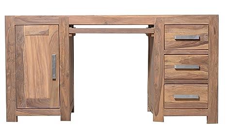 Quadrato - Schreibtisch INDO, Holz Sheesham natur, Maße: B 150 x H 80 x T 75 cm