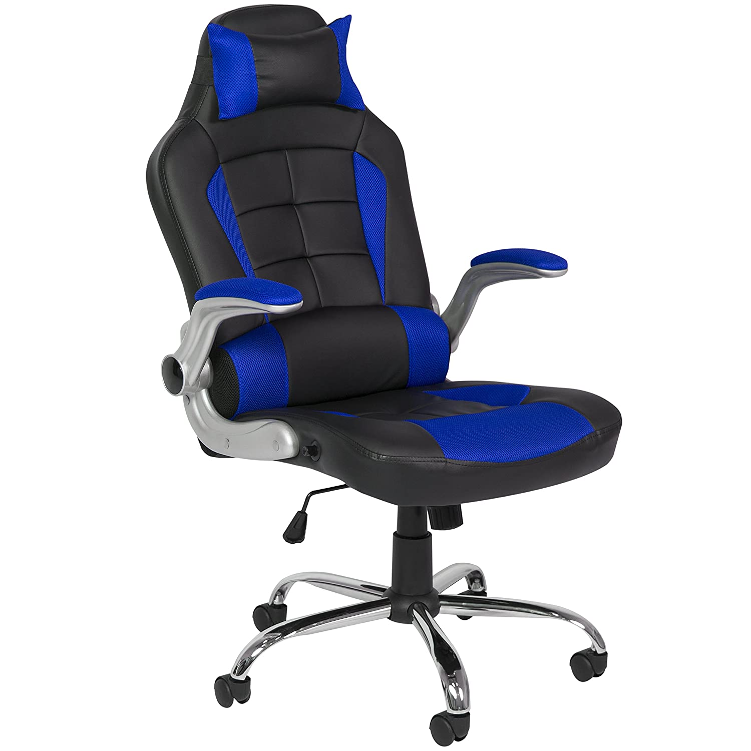 Best Choice Products BCP Deluxe Ergonomic Racing Style PU Leather Office Chair Swivel High Back