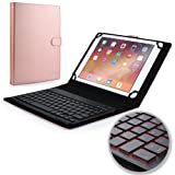 Samsung Galaxy Tab S2 9.7 keyboard case, COOPER BACKLIGHT EXECUTIVE 2-in-1 Backlit LED Bluetooth Wireless Keyboard Leather Travel Cover Folio Portfolio Stand with 7 Colors SM-T810 T815 (Rose Gold)