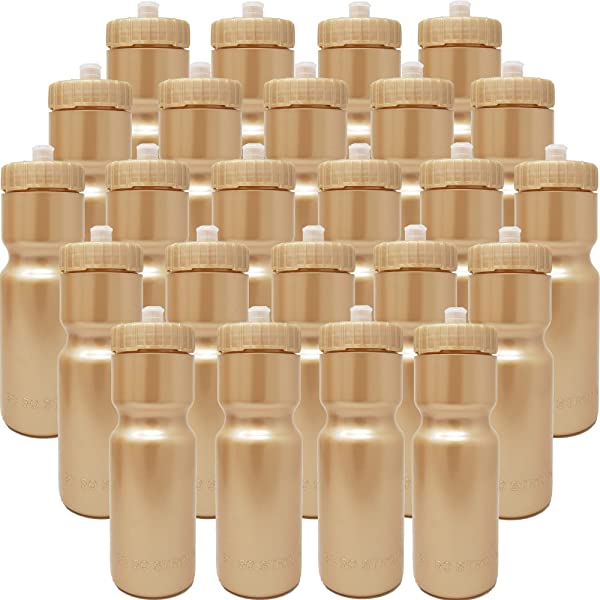 24 Bottles 50 Strong Sports Squeeze Water Bottle Bulk Pack BPA Free 22 oz