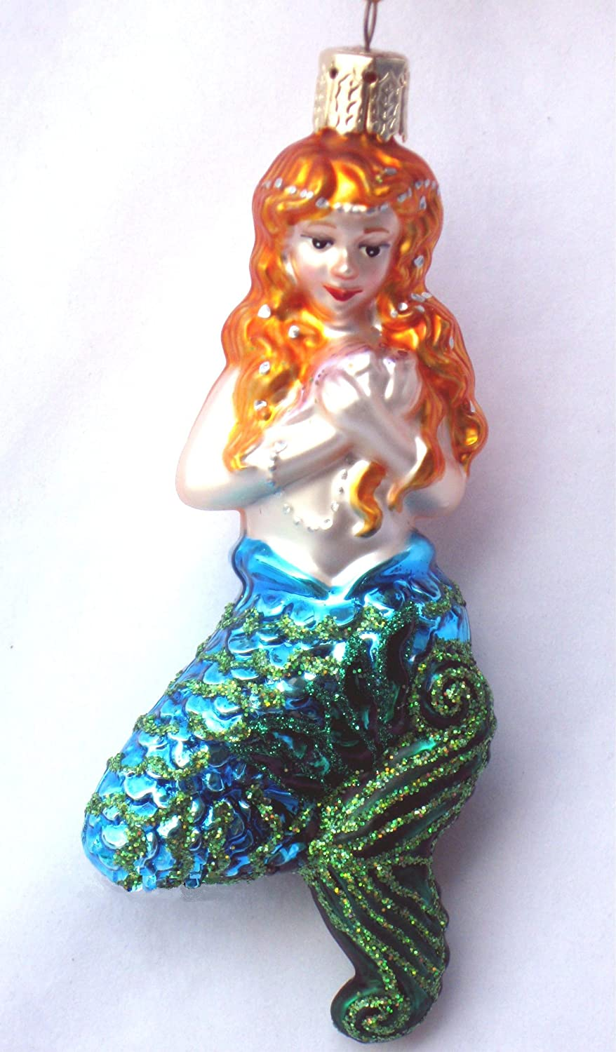 Blown Glass Mermaid  Ornament