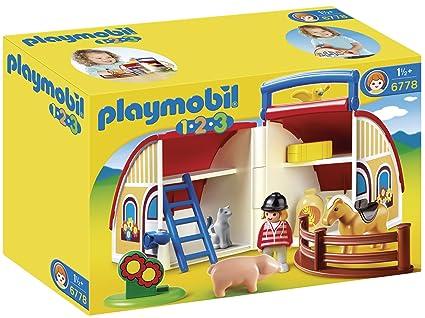 Playmobil Take Along Horse Stable Playmobil 1.2.3 Take Along