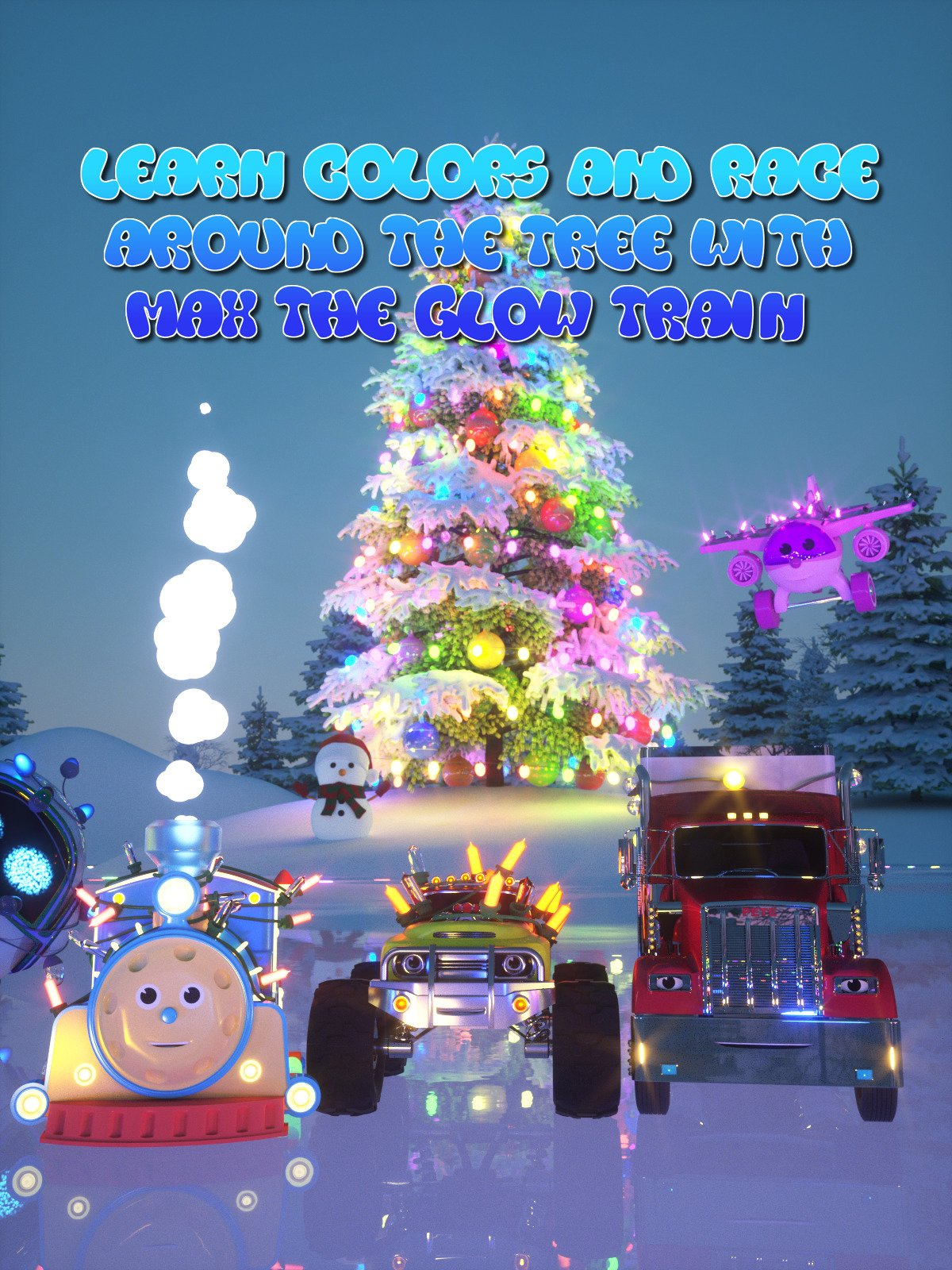 Learn Colors and Race Around the Tree With Max the Glow Train