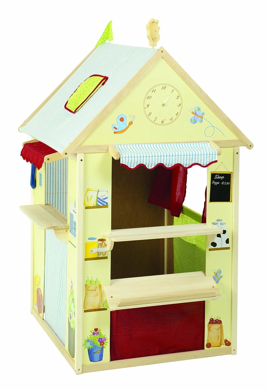 Spielhaus-Kombination aus Holz klein