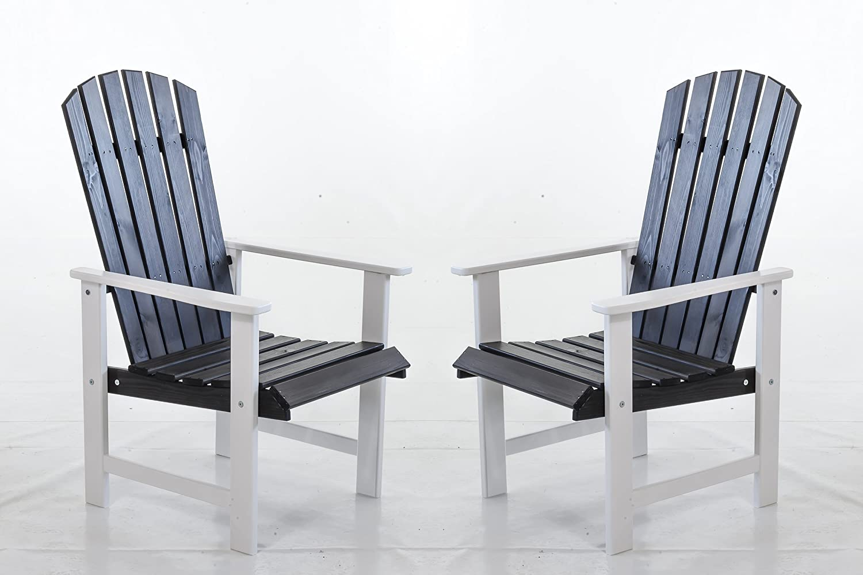 Ambientehome Gartensessel Stranda, Gartenstuhl, Sessel, 2-er Set, weiß / grau online bestellen
