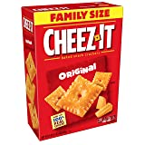 Cheez-It Baked Snack Cheese Crackers, Original, Family Size, 21 oz Box(Pack of 3)