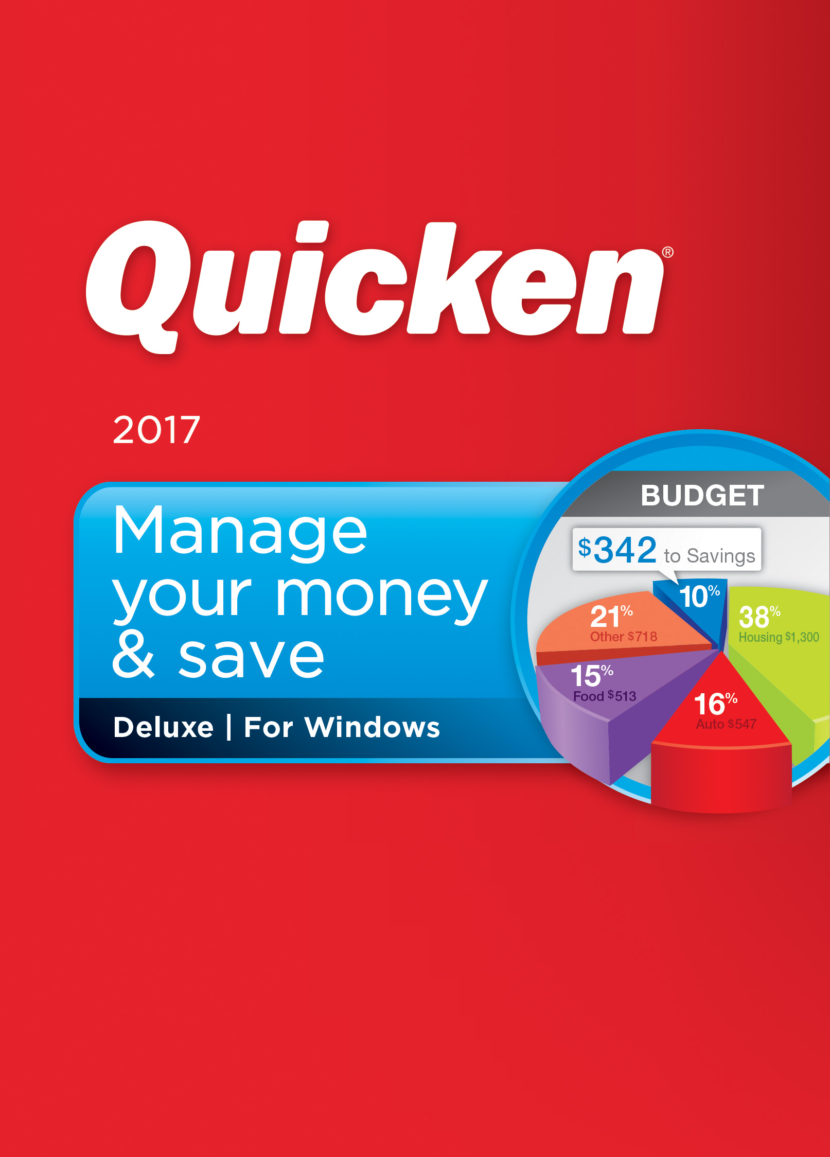 Quicken Deluxe 2017 Personal Finance & Budgeting Software [Download] (Budget Software 2015 compare prices)