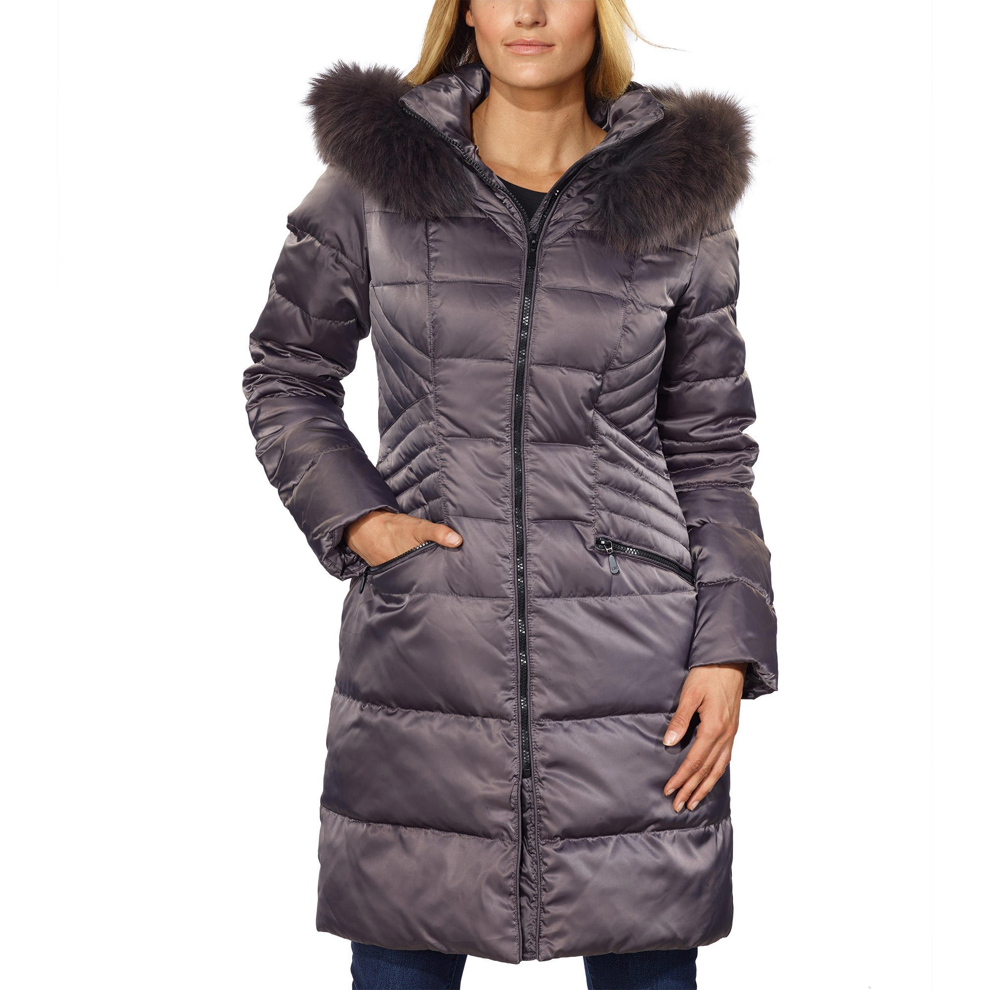Ladies Hooded Down Jacket