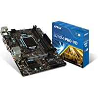 MSI B250M PRO-VD LGA 1151 Intel B250 SATA 6Gb/s USB 3.1 Micro ATX Intel Motherboard + MSI Gaming Mouse