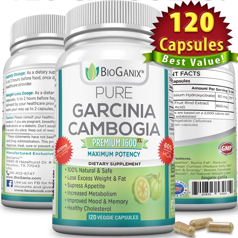 Best 100 Pure Garcinia Cambogia Extract Premium 1600mg Xl