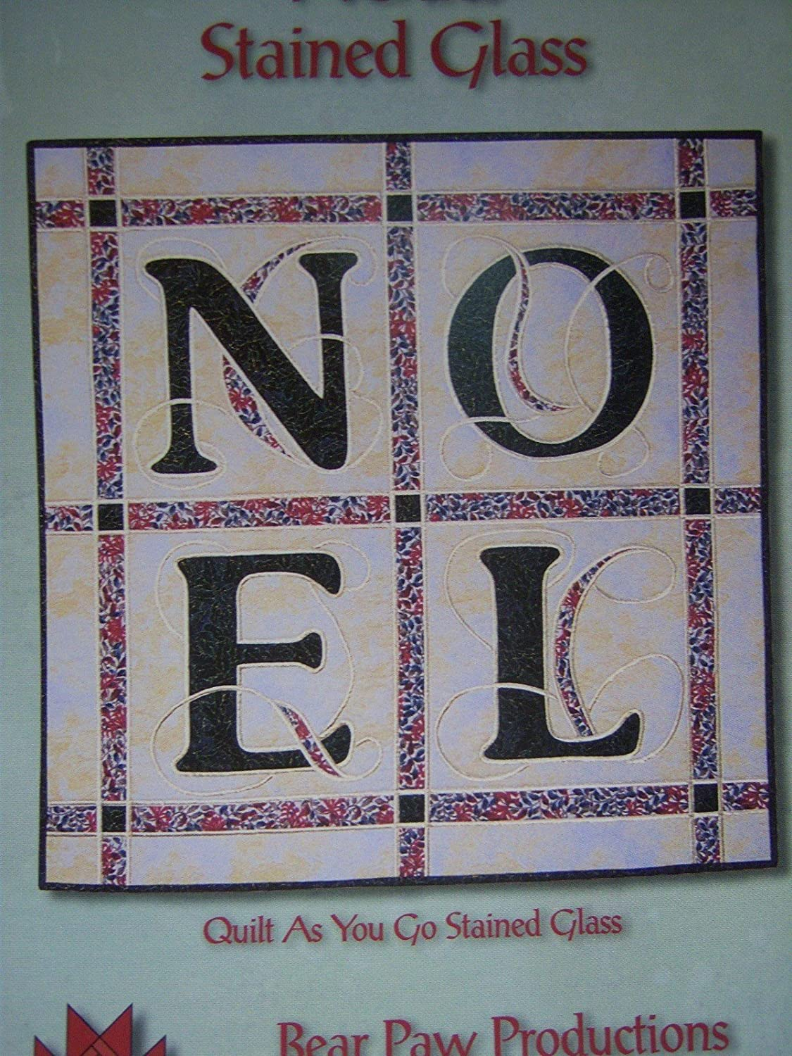 Noel Stained Glass - Quilt Pattern for Wallhanging - 33 x 33