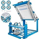 VEVOR Screen Printing Machine 200x240mm Manual Cylinder Screen Printing Machine F160mm Maximum Printing Diameter 200mm Printing Perimeter Silk Screen Machine for Cylinder Printing