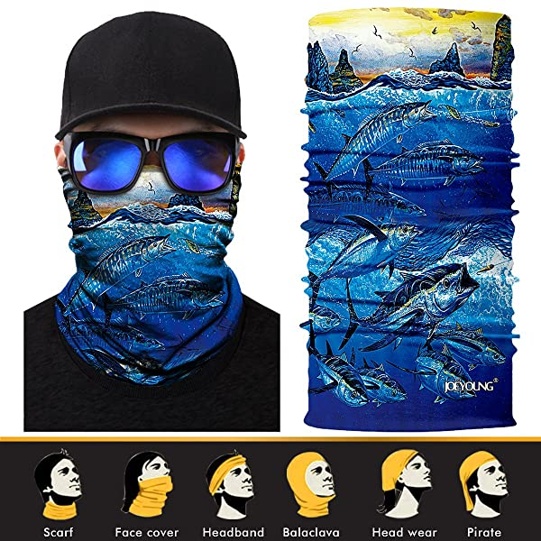 3D Animal Face Shield Sun Mask Neck Gaiter Balaclava Scarf Headwear UV Fishing