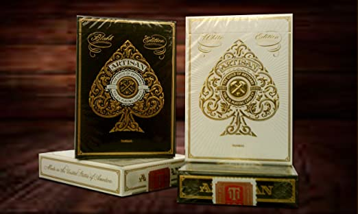 2 Pack (1)White Deck and (1)Black Deck Edition Artisan Playing Cards By Theory11 MFG USPCC