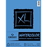 Canson XL Series Watercolor Textured Paper Pad for Paint, Pencil, Ink, Charcoal, Pastel, and Acrylic, Fold Over, 140 Pound, 9 x 12 Inch, 30 Sheets (100510941)