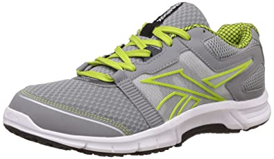 Reebok Men's Charged Ride Grey And Green Running Shoes 8 UK