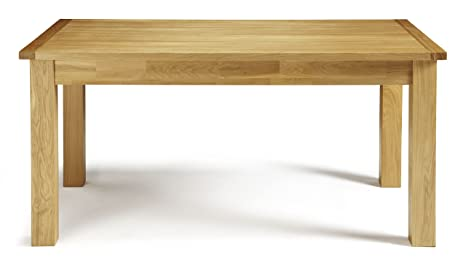 The Dining Collection by Serene Furnishings - Solid Oak and Veneer Bromley Dining Table - 160 cm in Brown