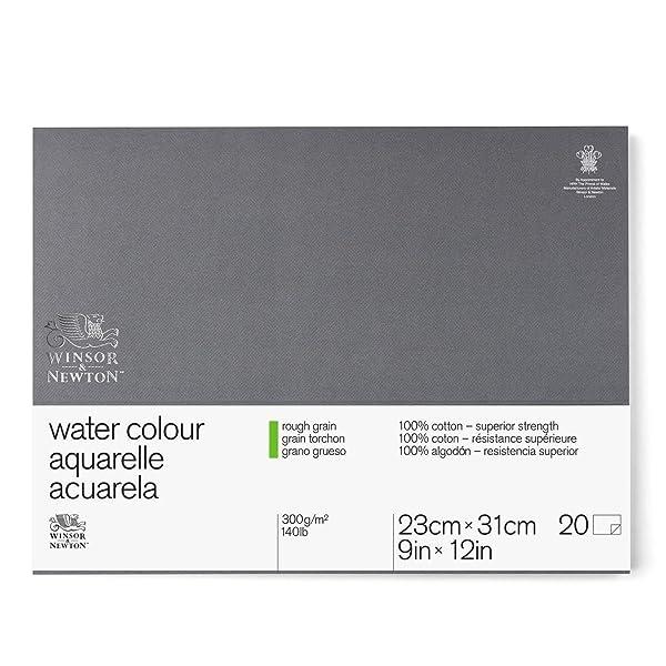 Winsor & Newton Professional Watercolor Paper Block, Rough 140lb, 9x12, White (Color: White, Tamaño: 9x12)