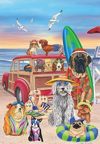 Dog Days of Summer Garden Flag