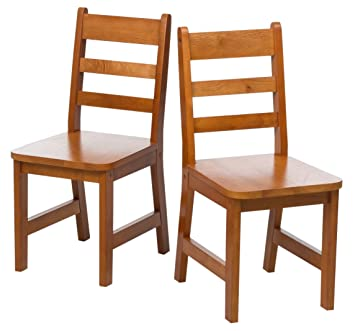 Lipper International 523-4P Child's Chairs, Set of 2, Pecan