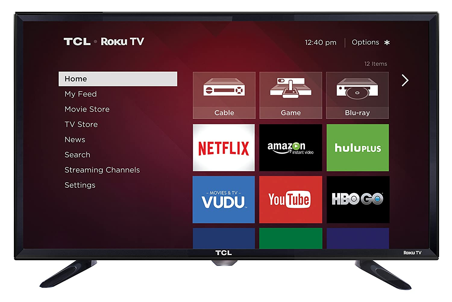 TCL 28S3750 28 Inch 720p 60Hz Roku Smart LED TV (2015 Model)