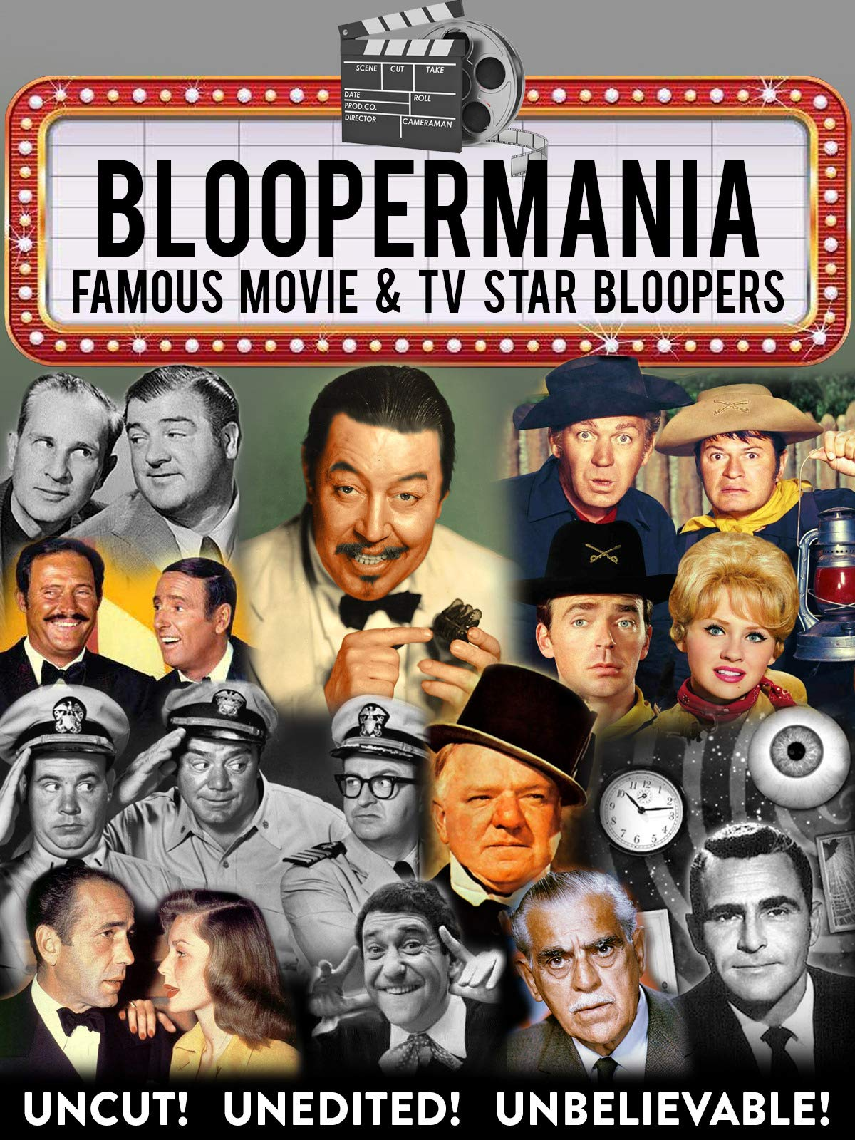 Bloopermania - Famous Movie & TV Star Bloopers, Uncut! Unedited! Unbelievable!