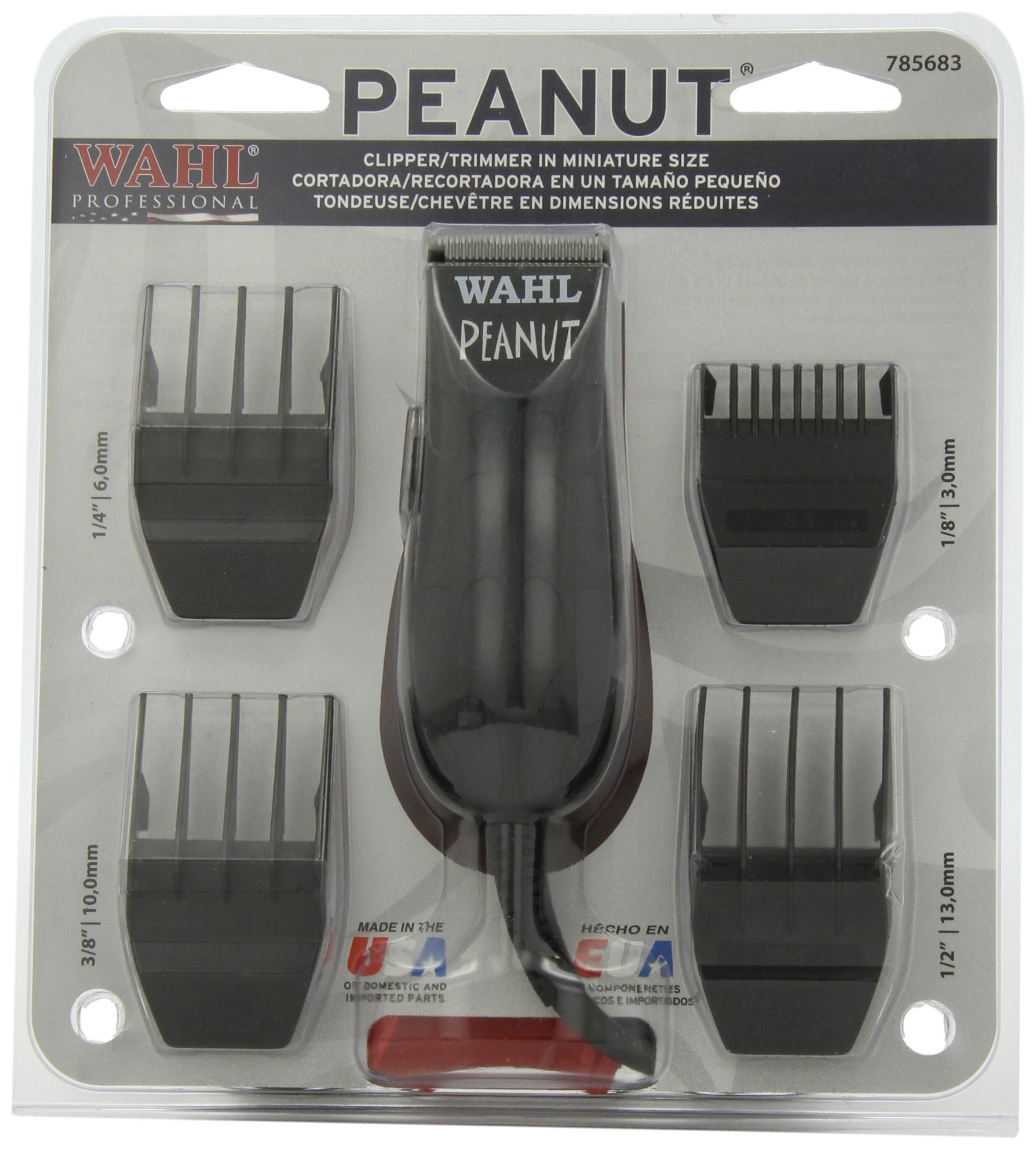 wahl professional 8655 200 peanut clipper trimmer black ebay. Black Bedroom Furniture Sets. Home Design Ideas