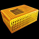 RITE FARM PRODUCTS H.D. 29x21x12 POULTRY TRANSPORT 4H SHOW CAGE COOP BASKET CHICKEN CRATE (Color: yellow)