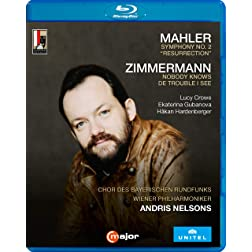 "Mahler: Symphony No. 2, """"Resurrection""""; Zimmerman: Nobody Knows De Trouble I See [Blu-ray]"