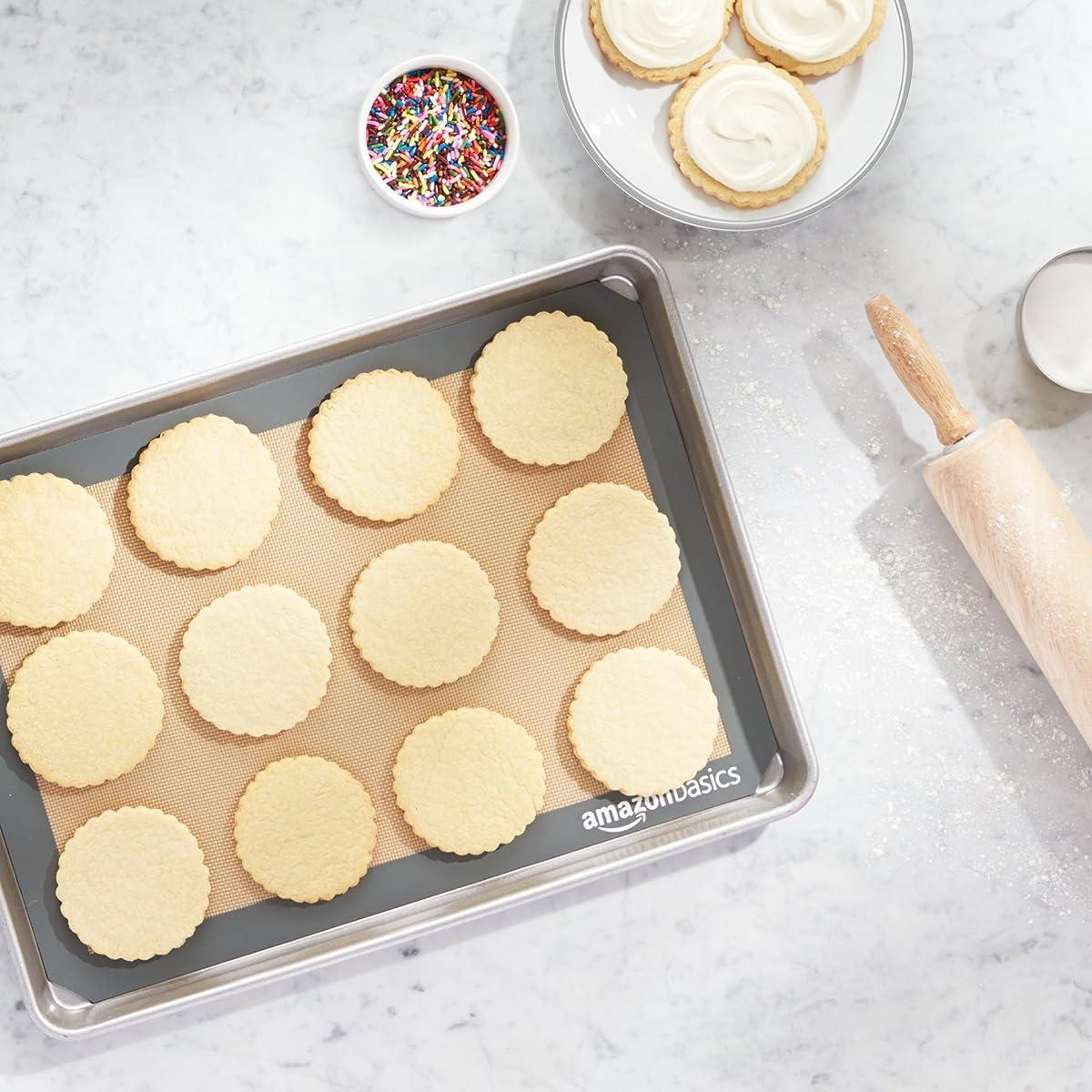 AmazonBasics Silicone Baking Mat - 2 Pack