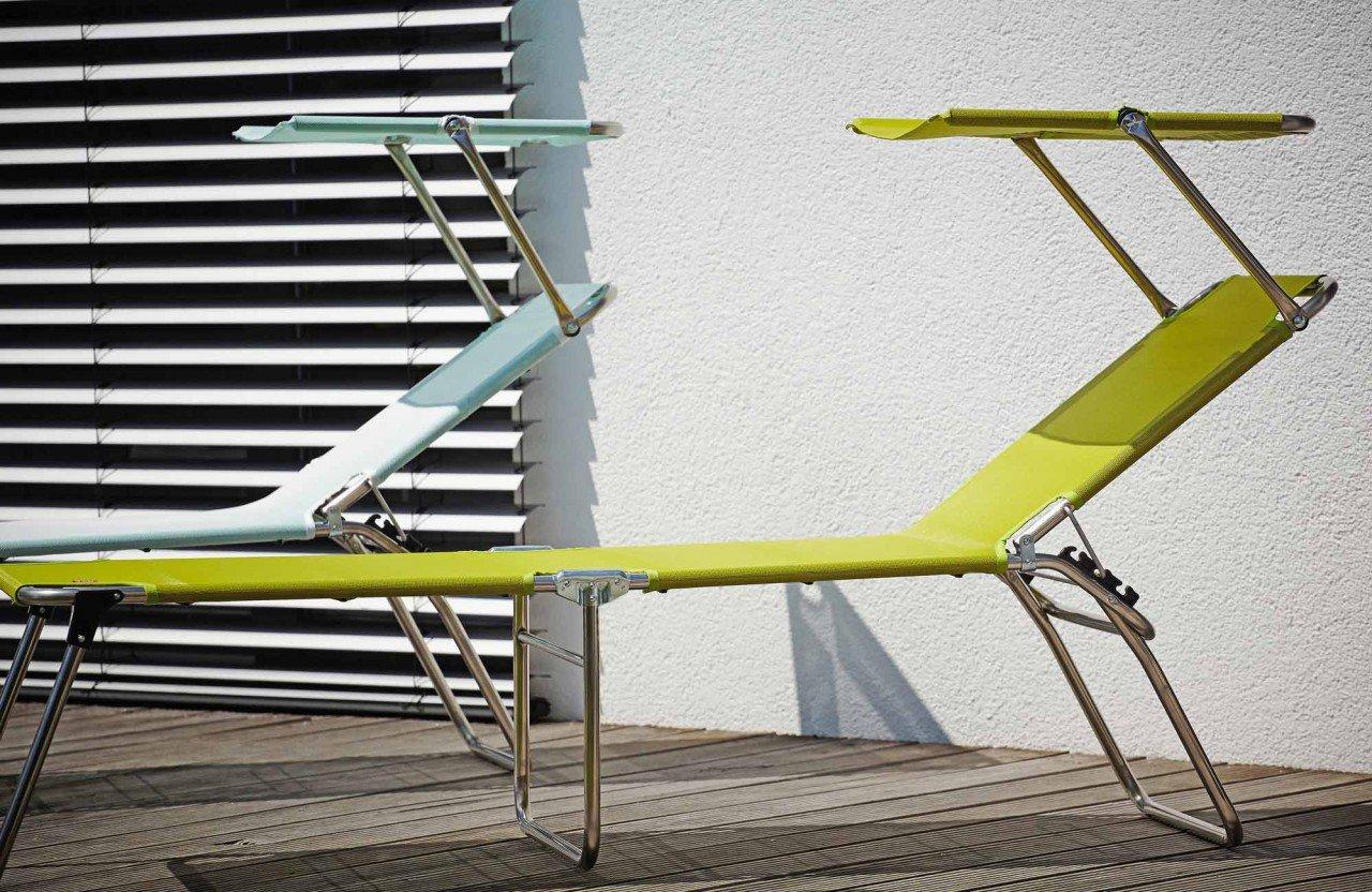 Dreibeinliege Amigo 40+ Sun Farbe: Taupe