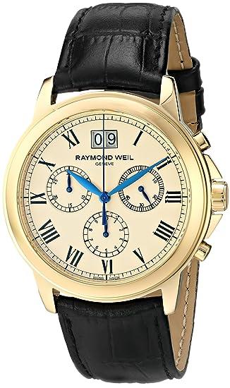 Raymond Weil Men's 4476-PC-00800 Tradition Analog Display Swiss Quartz Black Watch