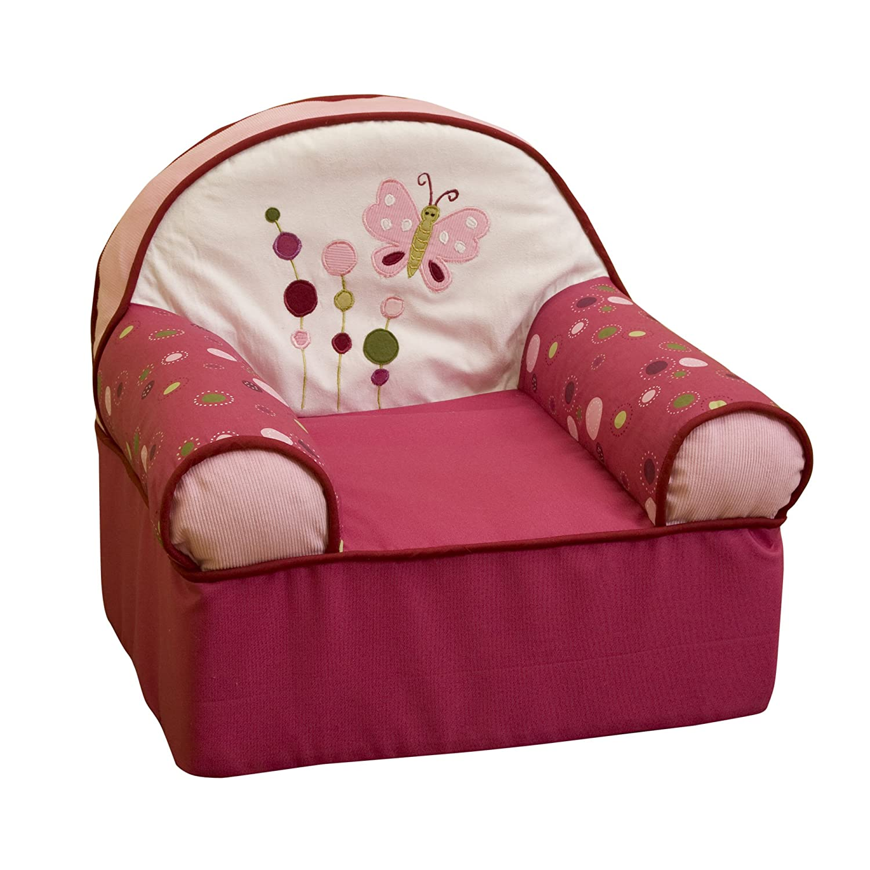 Raspberry Swirl Slipcover Chair