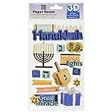 Paper House Productions STDM-0201E 3D Cardstock Stickers, Hanukkah (3-Pack) (Tamaño: 5