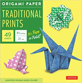 "Origami Paper - Traditional Prints - 8 1/4"" - 49 Sheets: (Tuttle Origami Paper)"