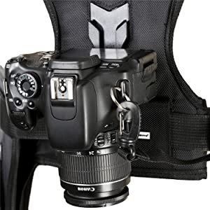 Dual Camera Holster Strap for Canon Nikon, Micnova Multi Carrying Chest Vest System for Canon 6D 600D 5D2 5D3 Nikon D90 Sony A7S A7R A7S2 Panasonic Olympus DSLR Camcorder Climbing Wedding Travel (Tamaño: 2X)