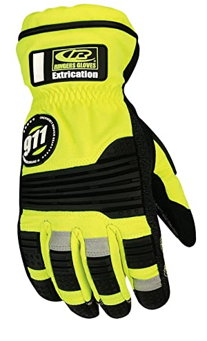 Ringers Gloves R-327 Extrication Barrier1, Heavy Duty Extrication Gloves, XX-Large (Color: Hi-Vis, Tamaño: XX-Large)