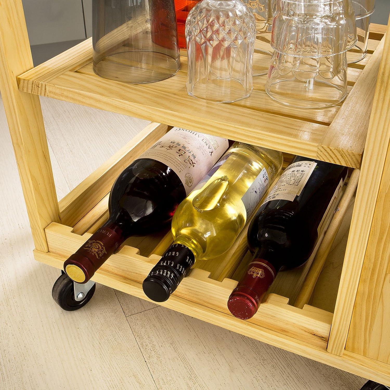 Sobuy carrello di servizio scaffale da cucina mensola angolare legno fkw12 n it ebay - Scaffale cucina ...