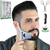 BEARDCLASS Beard Shaping Tool - 8 in 1 Comb Multi-liner Beard Shaper Template Comb Kit Transparent - Bonus Items Included - Works with any Beard Razor Electric Trimmers or Clippers (Clear)