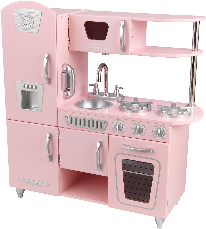 Pink Wooden Kitchen Vintage Kitchen in Pink