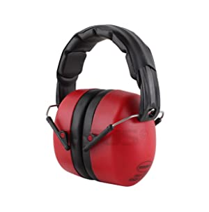 TITUS High Decibel Safety Earmuffs (With Pouch, Leatherette - Red) (Color: Leatherette - Red, Tamaño: With Pouch)