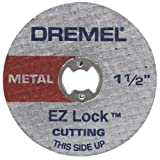 Dremel EZ456 1-1/2-Inch EZ Lock Rotary Tool Cut-Off Wheels for Metal, 5-Pack (Color: As the picture shown, Tamaño: Medium)