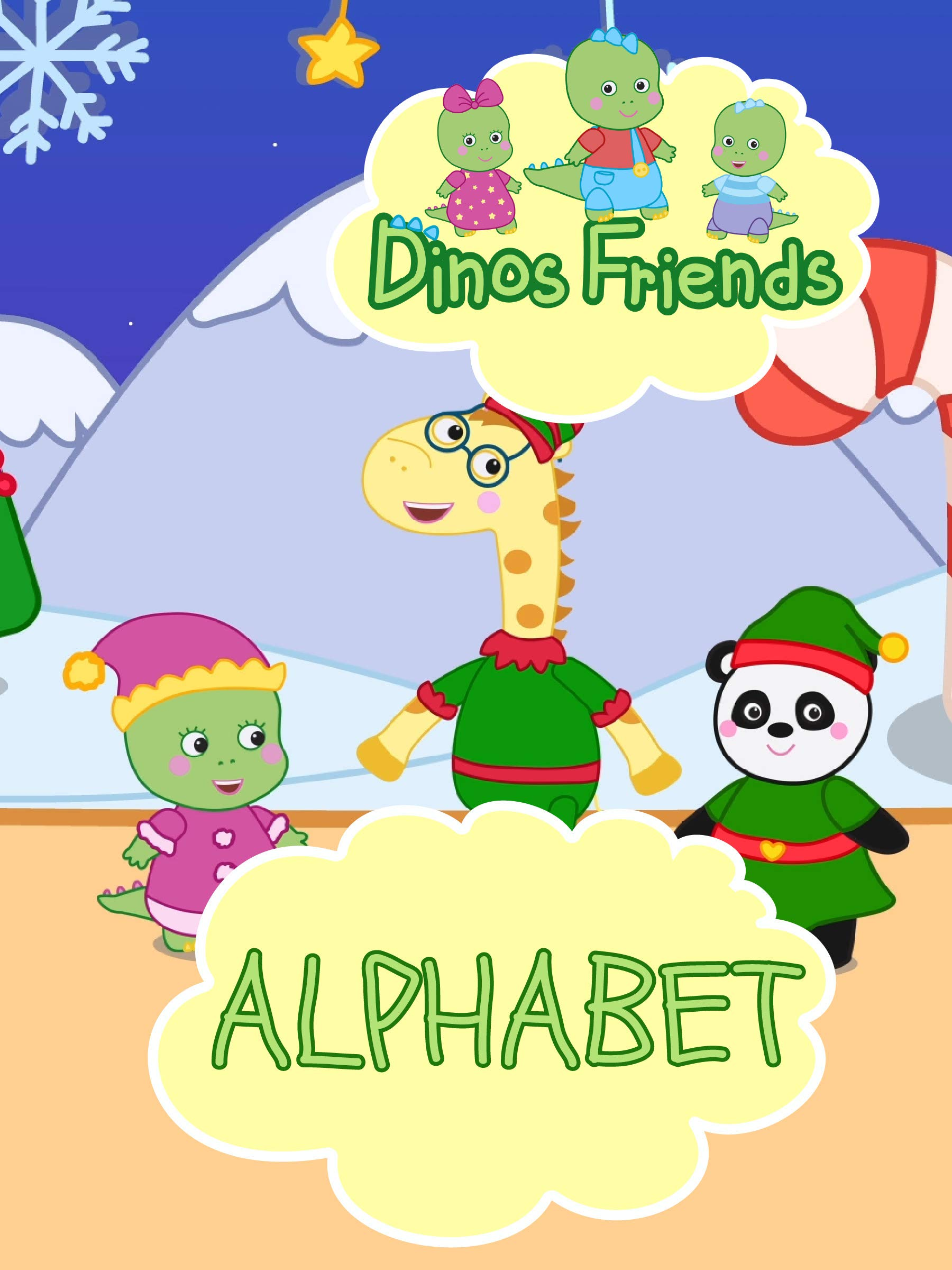 Dinos Friends - The Alphabet (Russian Alphabet)